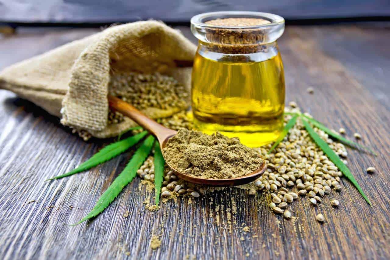 huile graine feuille de chanvre