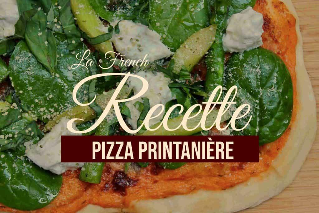 Recette Pizza Printanière